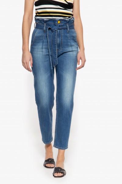 Jeans im Paperbag-Design mit Waschung »Moon«
