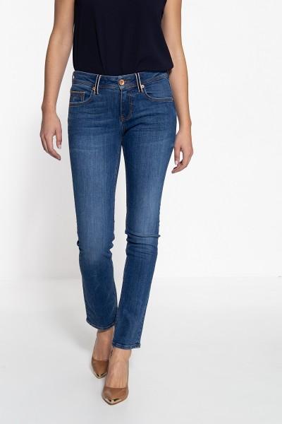 ATT JEANS Straight Cut Jeans mit Details an Münztasche und Gürtelschlaufen Stella
