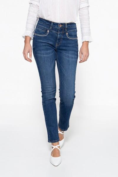 ATT JEANS Regular Fit Jeans »Lea« mit Ziersteppungen an den Tascheneingriffen Lea