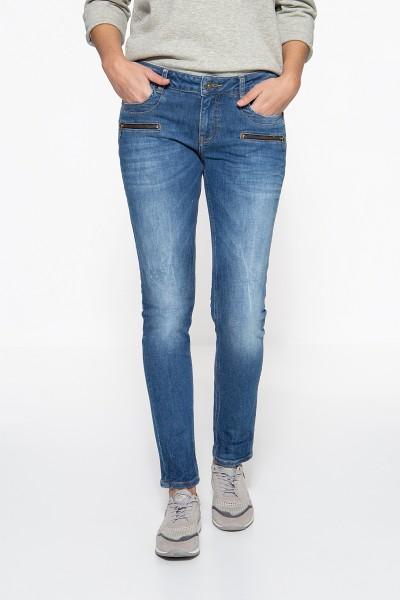 ATT JEANS Slim Fit Jeans mit Zier-Reißverschlüssen Lindsey