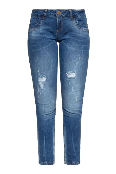 5-Pocket Jeans im femininen Slim Fit »Leoni«