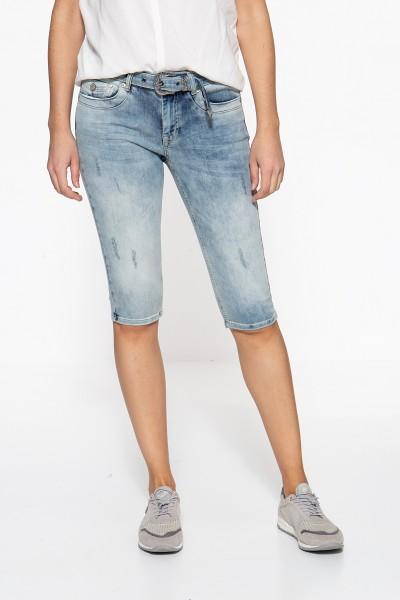 ATT JEANS Slim Fit Jeans mit zusätzlichem Jeansgürtel Lindsey