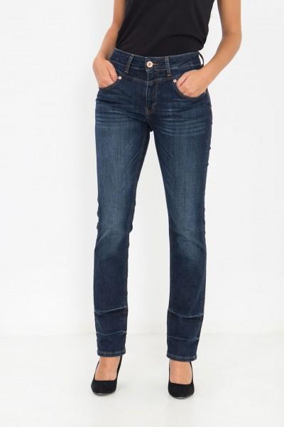ATT JEANS High Waist Jeans mit Wascheffekt am Saum Lea