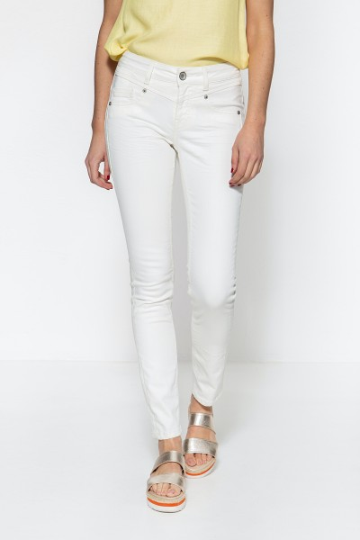 ATT JEANS Damen Basic Slim Fit Jeans in 5-Pocket Optik Zoe
