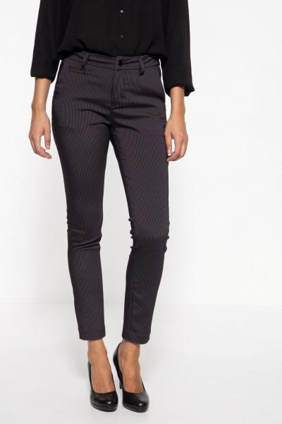 Slim Fit Damenhose mit eleganten Längsstreifen »Ruby«