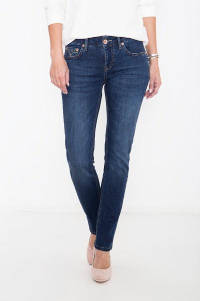 ATT JEANS Basic Straight Cut Jeans mit Ziersteppungen Stella