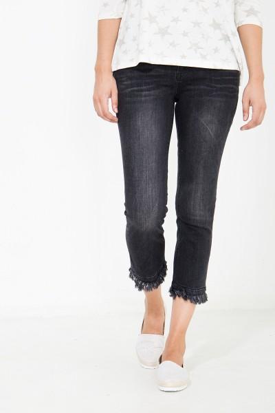 ATT JEANS Capri Jeans mit leicht ausgestelltem Fransensaum Brenda