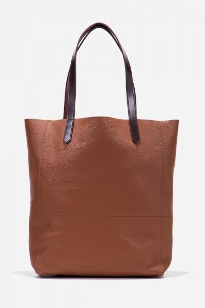Shopper aus robustem Leder