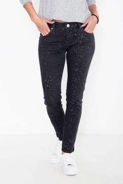 ATT JEANS Slim fit Jeans mit Glitzerdetails