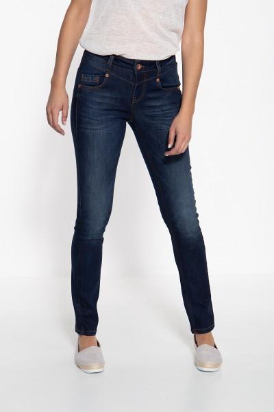 ATT JEANS Slim Fit Jeans mit vorderer Passe und kontrastierenden Absteppungen Zoe