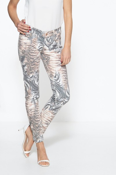 5-Pocket Jeans mit Animalprint »Lindsey«