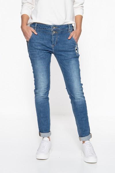 ATT JEANS Boy Fit Jeans mit verdeckter Knopfleiste Kira
