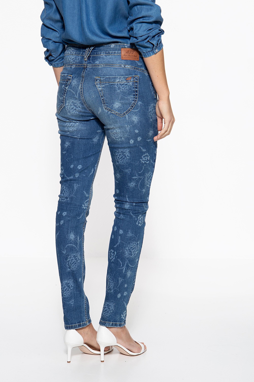Att Jeans Slim Fit Jeans Mit Floralem Muster Zoe Att Jeans