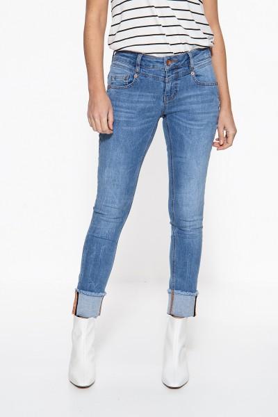 ATT JEANS Slim Fit Jeans mit Aufschlag mit aufgestepptem Band Zoe