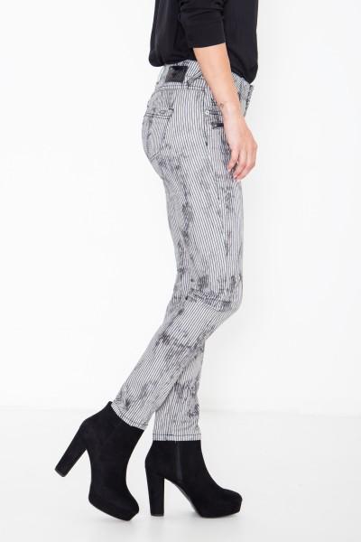 ATT JEANS Slim fit Jeans mit Streifen im Used-Look