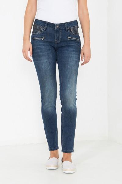ATT JEANS Slim Fit Jeans mit Nietendetails Carron