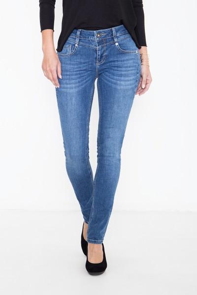 ATT JEANS Basic Slim Fit Jeans mit Passennaht vorne Zoe