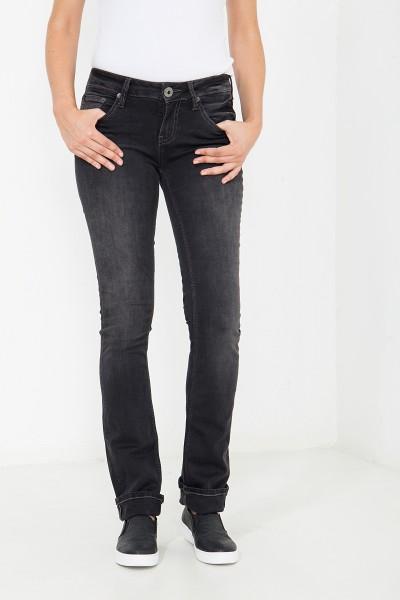 ATT JEANS Straight Cut Jeans mit Ziersteppungen und Dekoknopf Stella