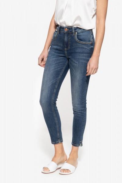 Slim Fit Jeans mit Capri-Schlitzen »Sun«