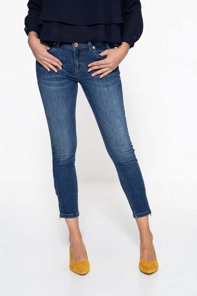 ATT JEANS Slim Fit Jeans »Leoni« mit Reißverschlüssen an den Saumkanten Leoni