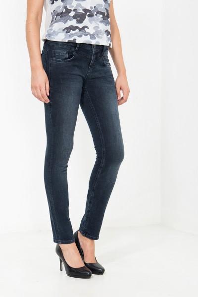 ATT JEANS Gewaschene Slim Fit Jeans in dunkler Waschung Zoe