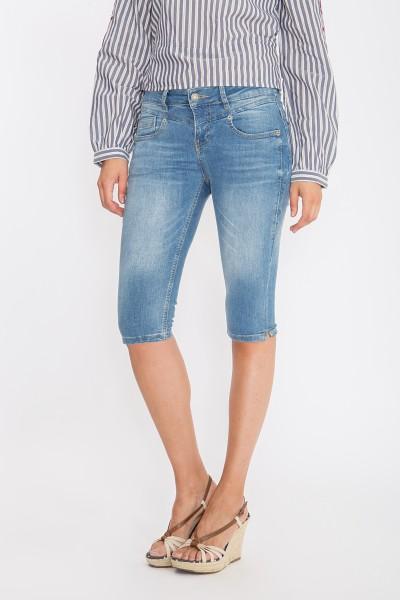 ATT JEANS - Slim Fit Capri Jeans mit Zierknopf « Zoe » Zoe