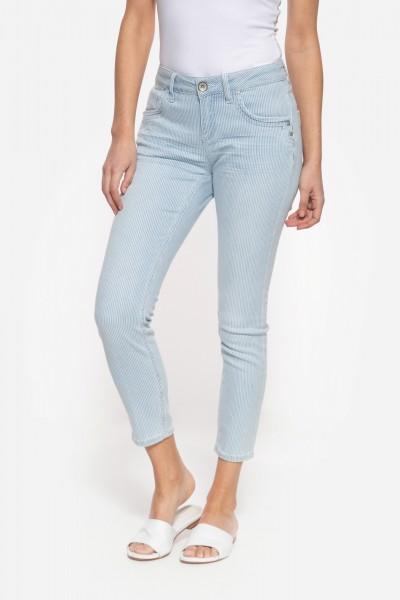 Jeans mit sommerlichem Streifen-Design »Leoni«