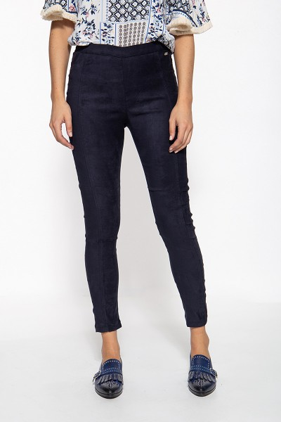 ATT JEANS Slim Fit Hose in Wildleder-Optik Mila